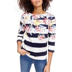 Joules Harbour 3/4 Sleeve Printed Jersey Top